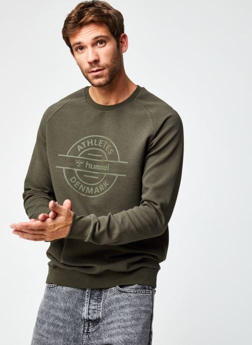 Vêtements Hummel Hmldare Sweat Shirt Vert vue droite