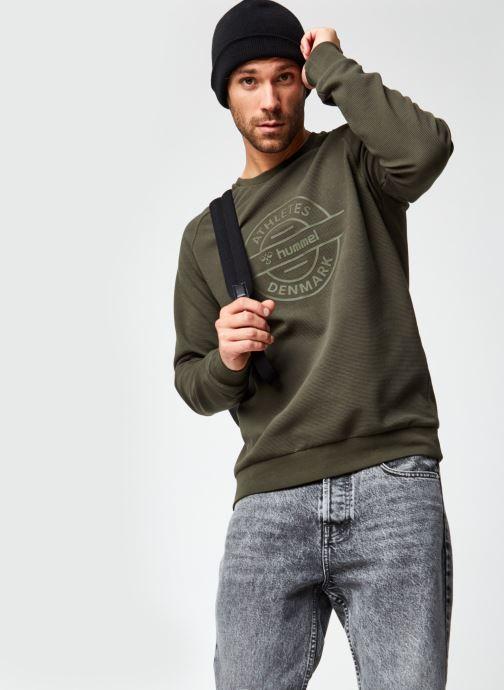 Vêtements Hummel Hmldare Sweat Shirt Vert vue détail/paire