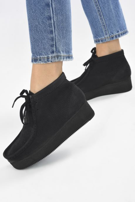 Veterschoenen Clarks Originals Wallabee Wedge Zwart onder