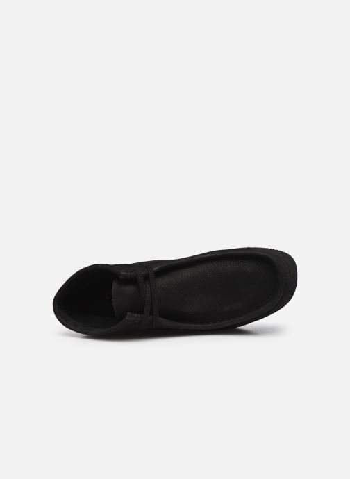 Veterschoenen Clarks Originals Wallabee Wedge Zwart links