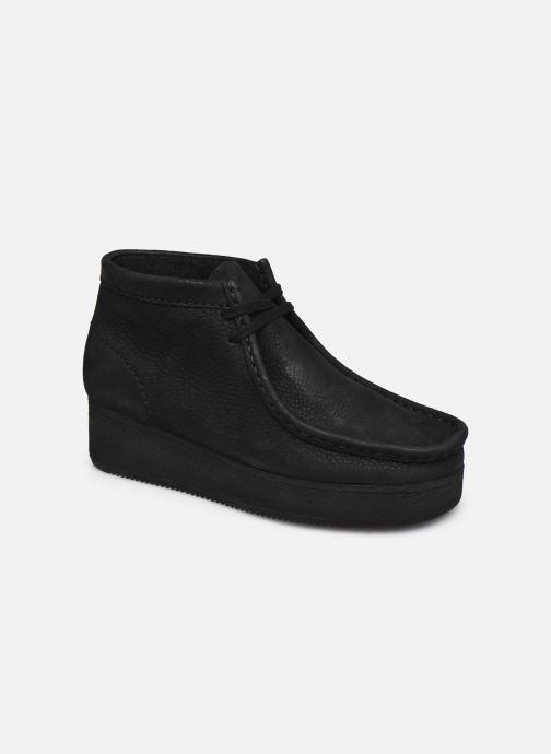 Chaussures à lacets Clarks Originals Wallabee Wedge Noir vue détail/paire