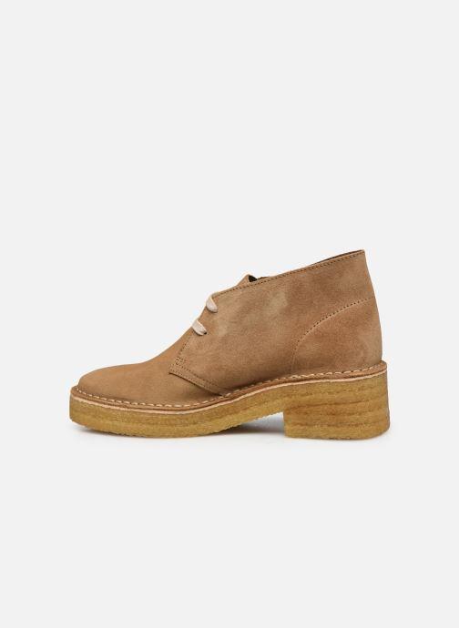 Stiefeletten & Boots Clarks Originals Arisa Desert braun ansicht von vorne