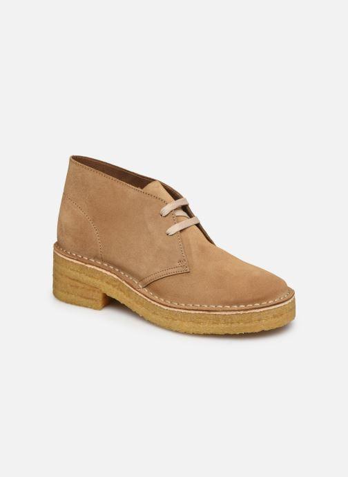 Bottines et boots Clarks Originals Arisa Desert Marron vue détail/paire