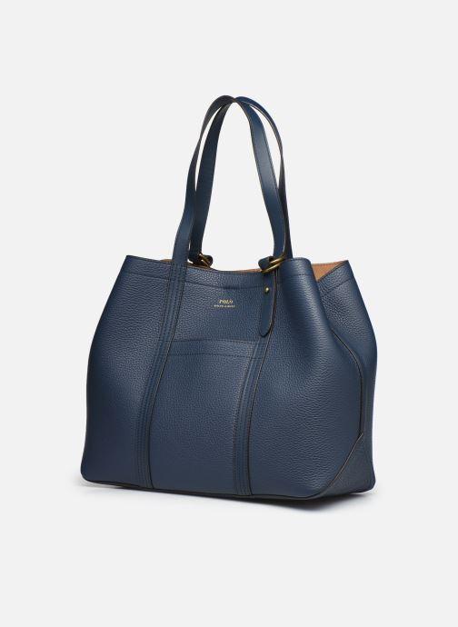 Bolsos de mano Polo Ralph Lauren CLASSIC TOTE MEDIUM Azul vista del modelo