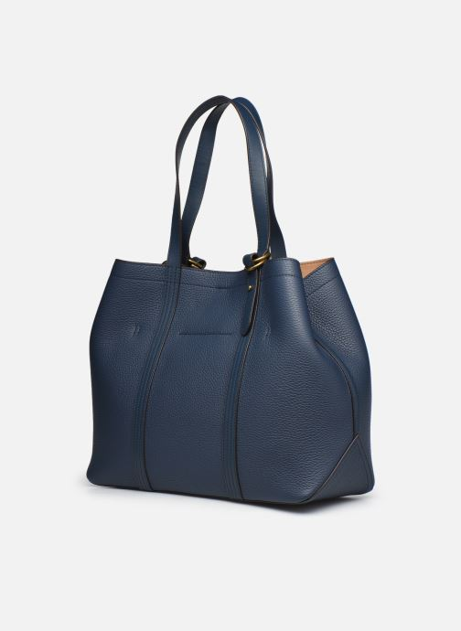 Bolsos de mano Polo Ralph Lauren CLASSIC TOTE MEDIUM Azul vista lateral derecha