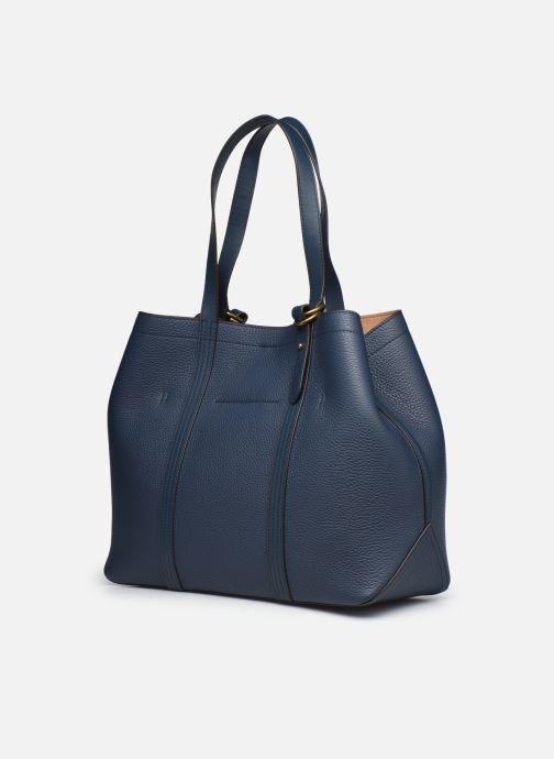 Handtaschen Polo Ralph Lauren CLASSIC TOTE MEDIUM blau ansicht von rechts