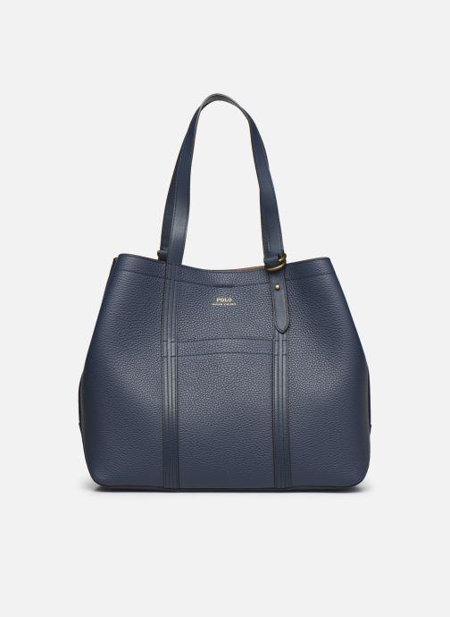Handtaschen Polo Ralph Lauren CLASSIC TOTE MEDIUM blau detaillierte ansicht/modell