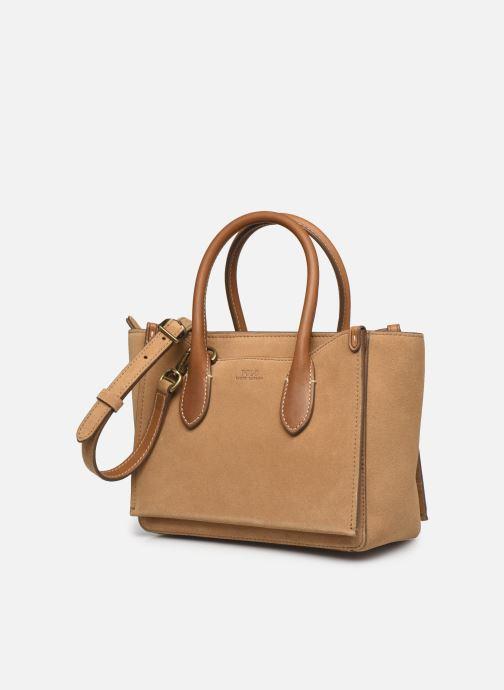 Handtaschen Polo Ralph Lauren MINI SLOANE SATCHEL SMALL braun schuhe getragen