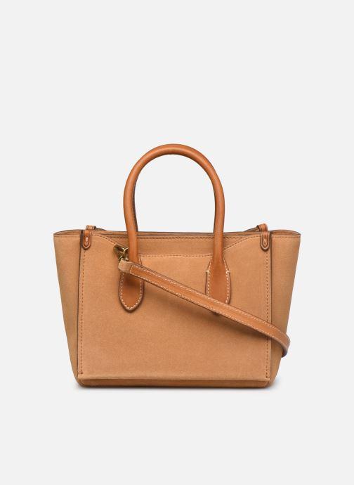 Handtaschen Polo Ralph Lauren MINI SLOANE SATCHEL SMALL braun ansicht von vorne