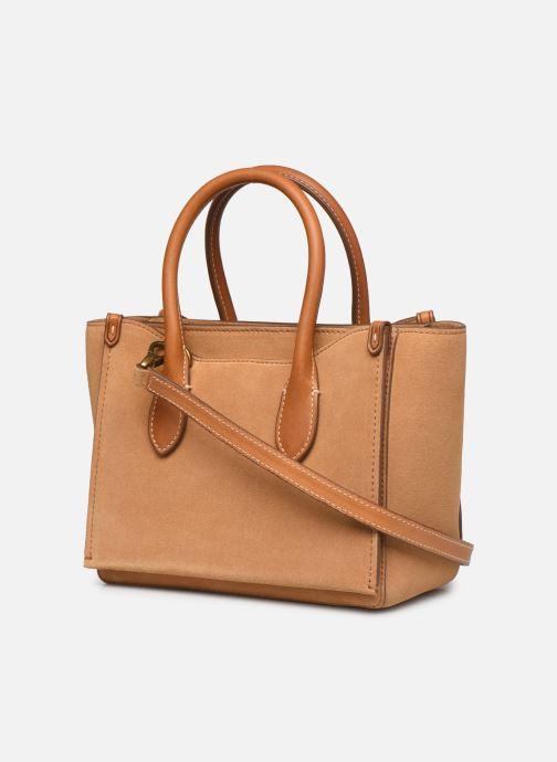 Handtaschen Polo Ralph Lauren MINI SLOANE SATCHEL SMALL braun ansicht von rechts