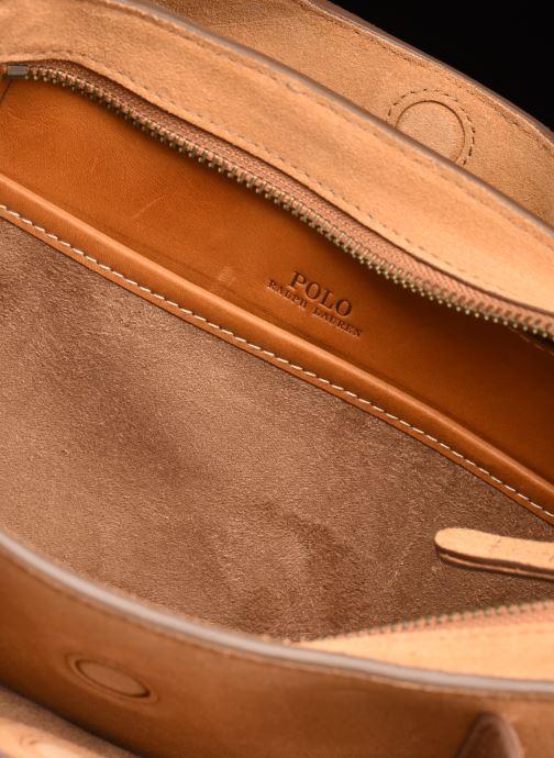 Handtaschen Polo Ralph Lauren MINI SLOANE SATCHEL SMALL braun ansicht von hinten