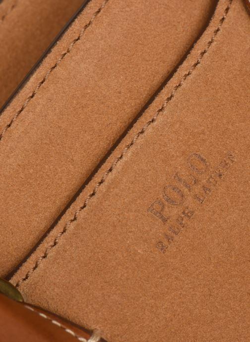 Handtaschen Polo Ralph Lauren MINI SLOANE SATCHEL SMALL braun ansicht von links