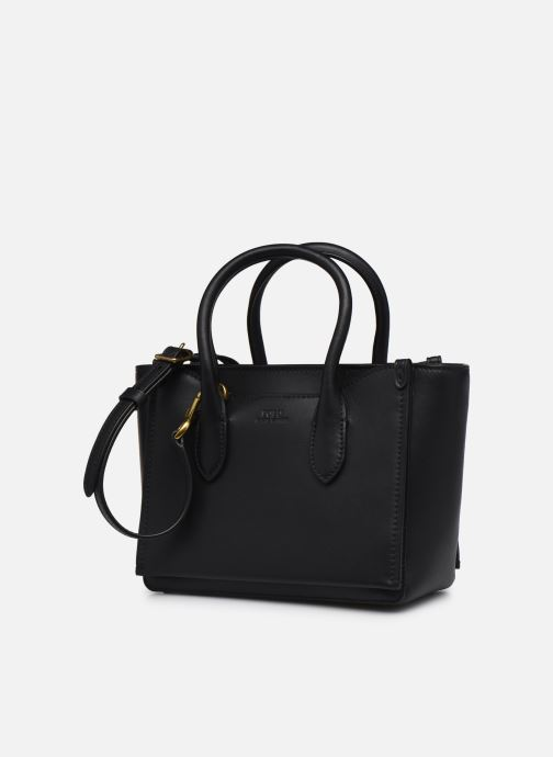 Handtaschen Polo Ralph Lauren MINI SLOANE SATCHEL SMALL schwarz schuhe getragen