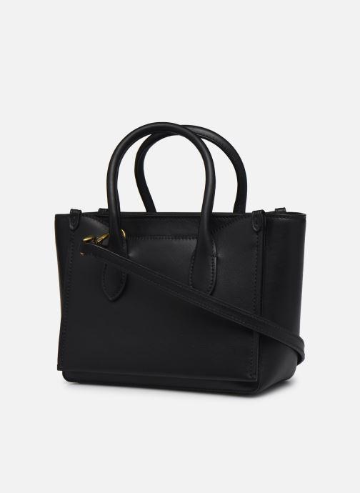 Handtaschen Polo Ralph Lauren MINI SLOANE SATCHEL SMALL schwarz ansicht von rechts