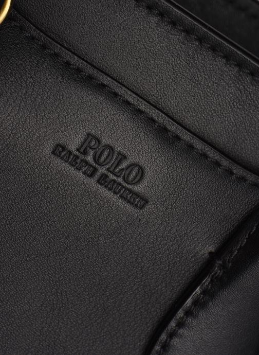 Handtaschen Polo Ralph Lauren MINI SLOANE SATCHEL SMALL schwarz ansicht von links