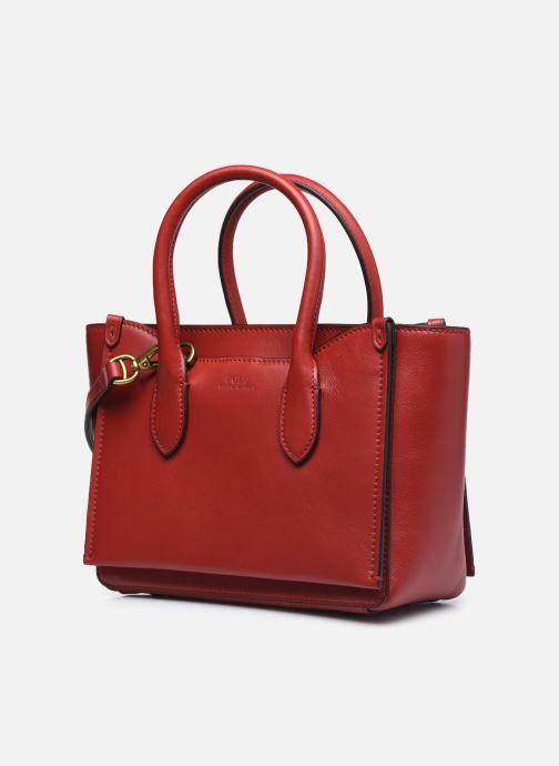 Bolsos de mano Polo Ralph Lauren MINI SLOANE SATCHEL SMALL Rojo vista del modelo