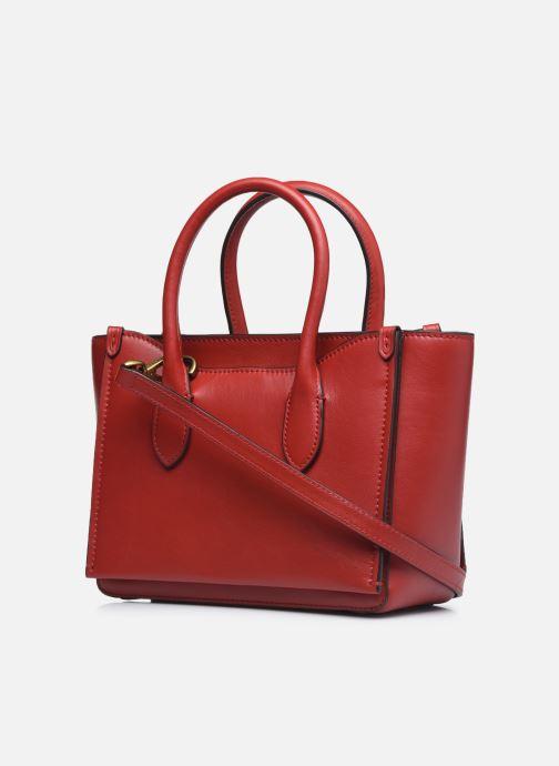 Bolsos de mano Polo Ralph Lauren MINI SLOANE SATCHEL SMALL Rojo vista lateral derecha