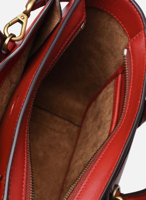 Bolsos de mano Polo Ralph Lauren MINI SLOANE SATCHEL SMALL Rojo vistra trasera