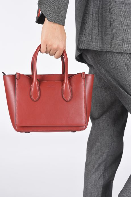 Bolsos de mano Polo Ralph Lauren MINI SLOANE SATCHEL SMALL Rojo vista de abajo