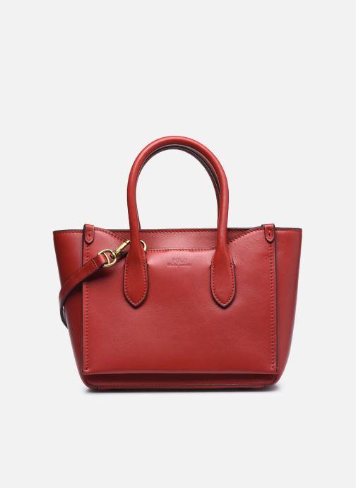 Bolsos de mano Polo Ralph Lauren MINI SLOANE SATCHEL SMALL Rojo vista de detalle / par