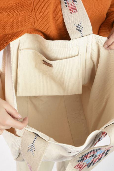 Sacs à main Polo Ralph Lauren MD SQ LDRY TOTE MEDIUM Blanc vue derrière