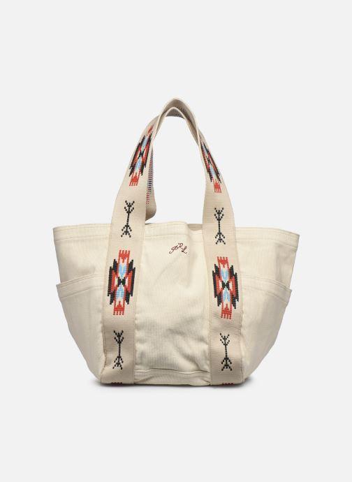 Sacs à main Polo Ralph Lauren MD SQ LDRY TOTE MEDIUM Blanc vue détail/paire