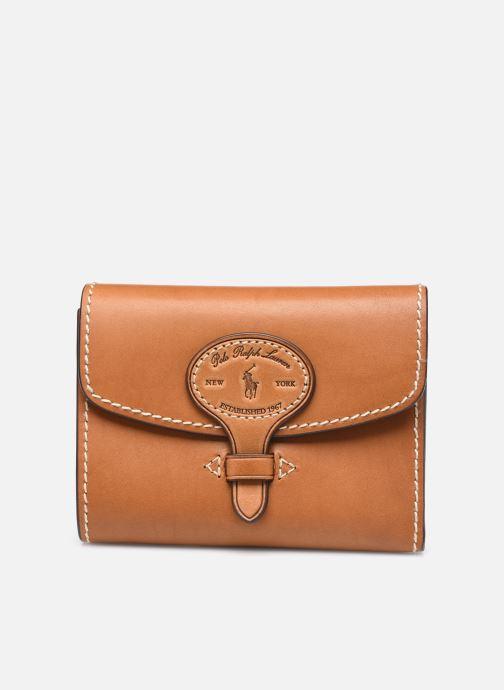 Petite Maroquinerie Polo Ralph Lauren COMPACT WALLET Marron vue détail/paire