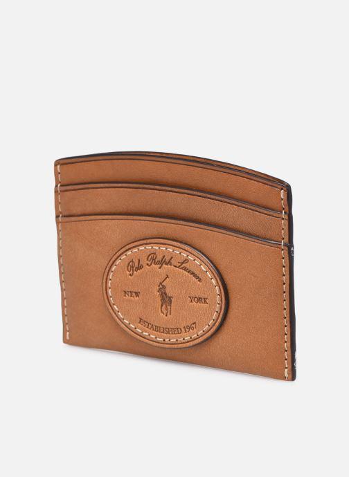 Petite Maroquinerie Polo Ralph Lauren CARD CASE Marron vue portées chaussures