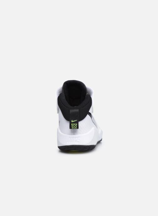Sportschuhe Nike Team Hustle D 9 (Ps) weiß ansicht von rechts