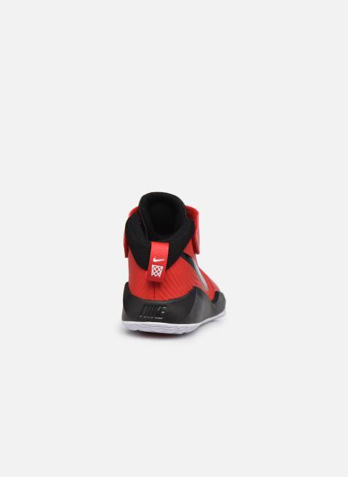 Sportssko Nike Team Hustle D 9 (Ps) Rød Se fra højre
