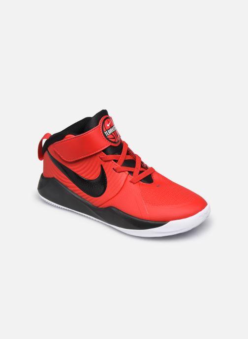 Sportssko Nike Team Hustle D 9 (Ps) Rød detaljeret billede af skoene