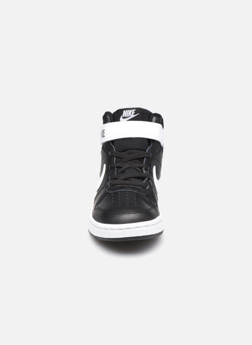 Baskets Nike Court Borough Mid 2 (Psv) Noir vue portées chaussures