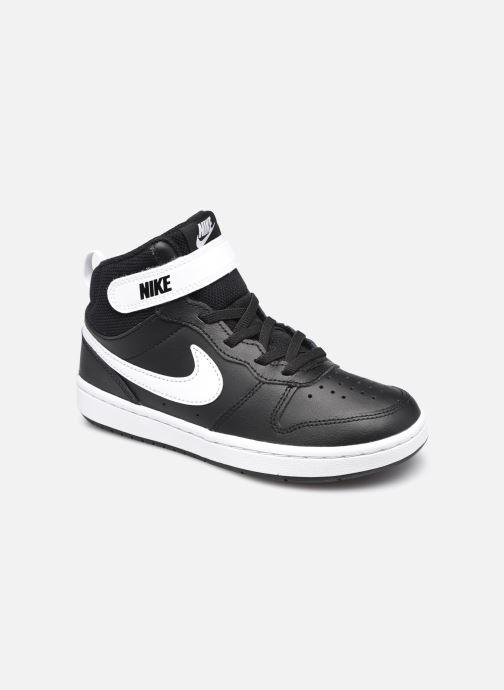 Baskets Nike Court Borough Mid 2 (Psv) Noir vue détail/paire