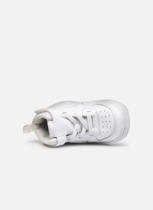 Sneaker Nike Court Borough Mid 2 (Tdv) weiß ansicht von links