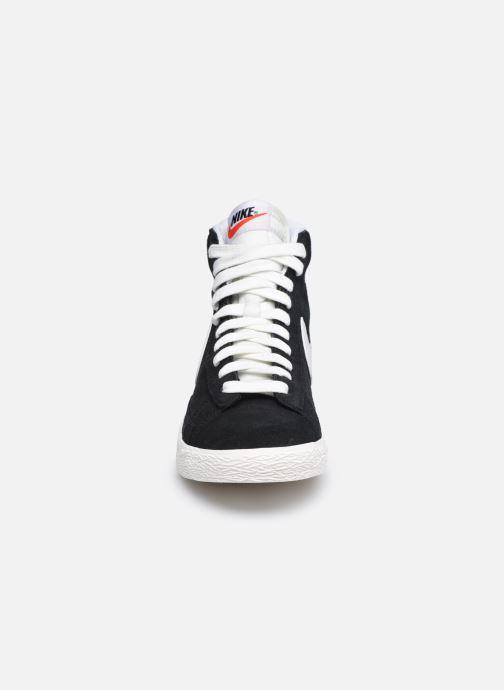 Baskets Nike Nike Blazer Mid Gs Noir vue portées chaussures