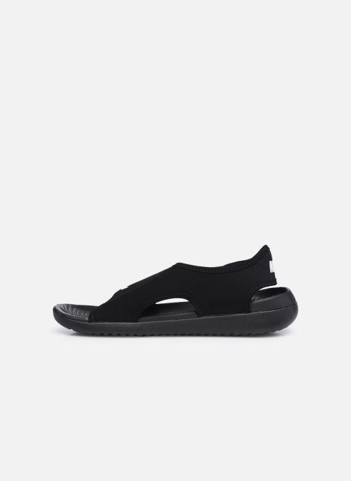 Sandalias Nike Sunray Adjust 5 V2 (Gs/Ps) Negro vista de frente