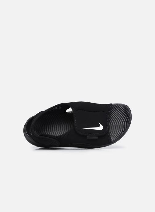 Sandales et nu-pieds Nike Sunray Adjust 5 V2 (Gs/Ps) Noir vue gauche