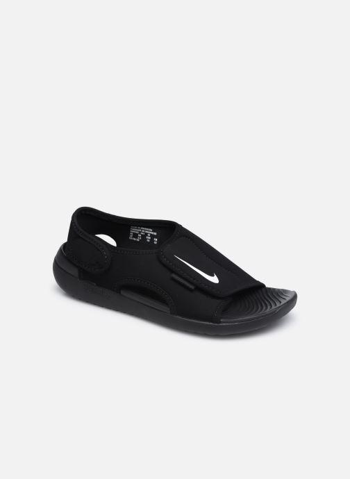 Sandalias Nike Sunray Adjust 5 V2 (Gs/Ps) Negro vista de detalle / par