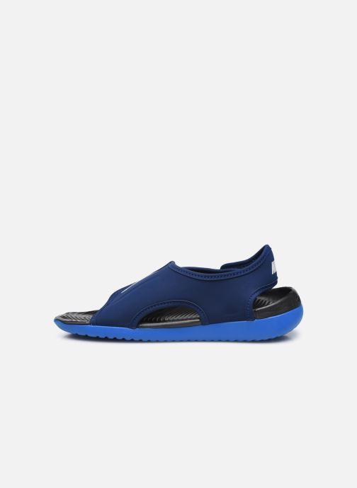 Sandales et nu-pieds Nike Sunray Adjust 5 V2 (Gs/Ps) Bleu vue face