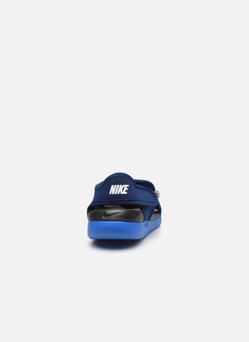 Sandales et nu-pieds Nike Sunray Adjust 5 V2 (Gs/Ps) Bleu vue droite