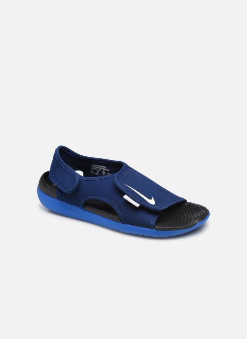 Sandales et nu-pieds Nike Sunray Adjust 5 V2 (Gs/Ps) Bleu vue détail/paire