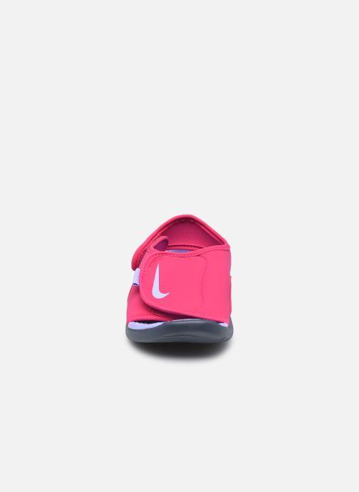 Sandalen Nike Sunray Adjust 5 V2 (Gs/Ps) rosa schuhe getragen