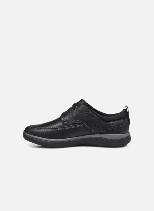 Zapatos con cordones Clarks Unstructured Garratt Street Negro vista de frente