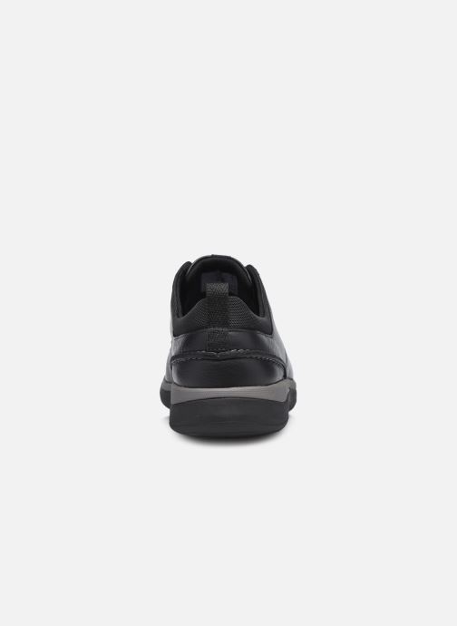 Zapatos con cordones Clarks Unstructured Garratt Street Negro vista lateral derecha
