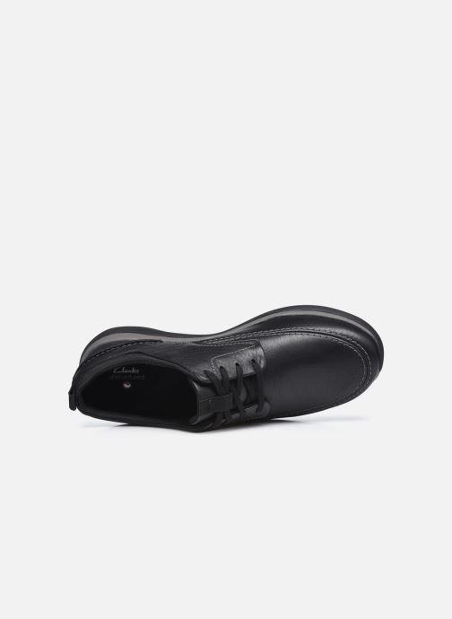 Zapatos con cordones Clarks Unstructured Garratt Street Negro vista lateral izquierda