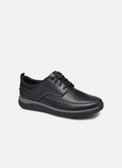 Chaussures à lacets Clarks Unstructured Garratt Street Noir vue détail/paire