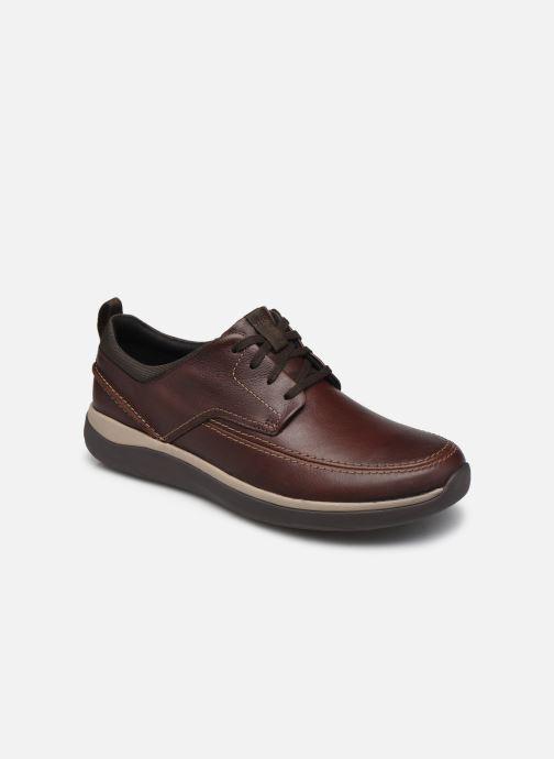Zapatos con cordones Clarks Unstructured Garratt Street Marrón vista de detalle / par