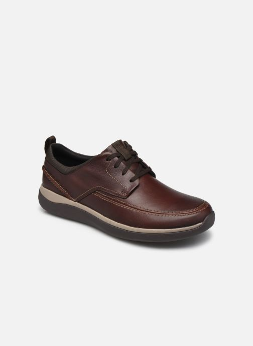 Veterschoenen Clarks Unstructured Garratt Street Bruin detail