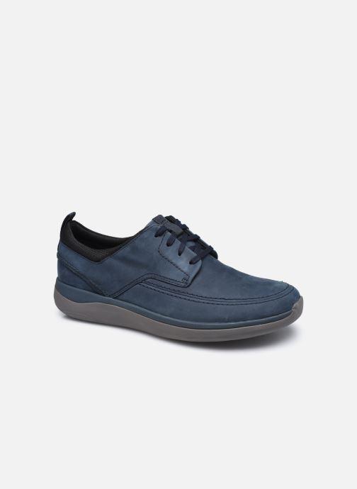 Zapatos con cordones Clarks Unstructured Garratt Street Azul vista de detalle / par