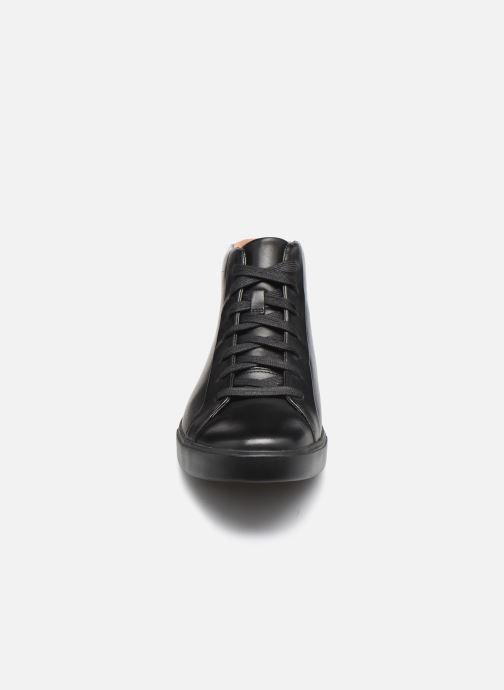 Baskets Clarks Unstructured Un Costa Mid Noir vue portées chaussures